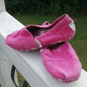 Toms-   Hot Pink Youth Girls 13